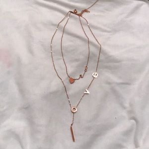 Jewelry - LOVE rose gold Necklace